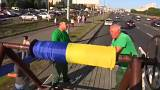 Watch: Ukrainian flag measuring 2,700 metres unveiled in Kyiv