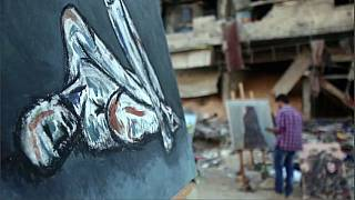 Watch: Syrian artists create colour amid ruins