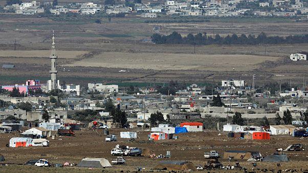 اردوگاه آوارگان سوری در نزدیکی مرز اسرائیل