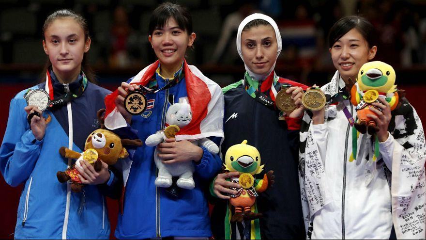کسب مدال برنز تکواندو توسط ناهید کیانی