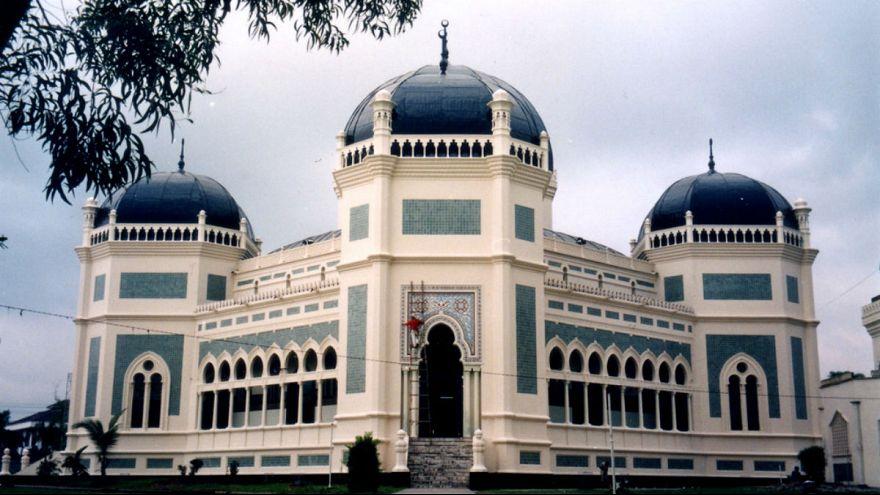 مسجد شهر مدان در شمال اندونزی