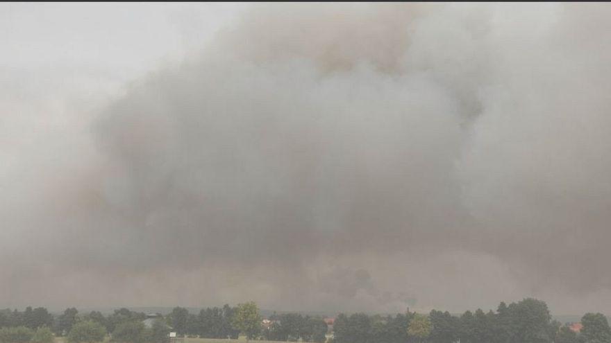 Inferno fuori Berlino, bruciati 400 ettari