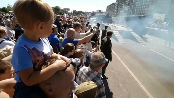 В Курске упал танк
