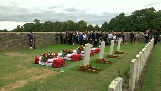 شاهد: دفن 4 جنود كنديين قُتلوا قبل قرن في فرنسا أثناء الحرب العالمية الأولى