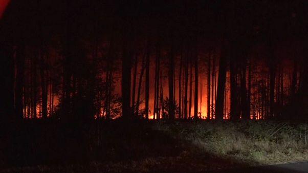 Berlin'de orman yangını 400 futbol sahası büyüklüğünde bir alana yayıldı