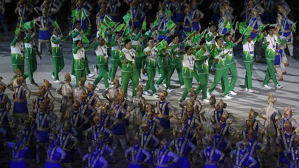 رژه تیم ترکمنستان در بازیهای آسیایی جاکارتا