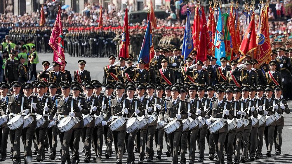 Watch: Ukraine celebrates Independence Day with military parade