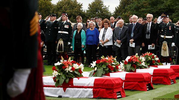 Des soldats de la Grande Guerre enterrés 100 ans plus tard