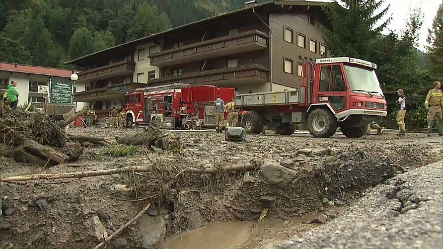 Tempestade provoca inundações na Áustria