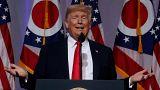 الرئيس الأمريكي دونالد ترامب يتحدث في أوهايو يوم الجمعة.
