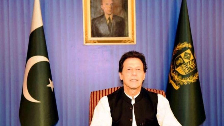 رئيس وزراء باكستان عمران خان يتحدث في اسلام اباد يوم 19 اغسطس اب 2018