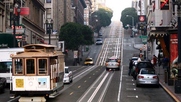 أحد شوارع مركز مدينة سان فرانسيسكو