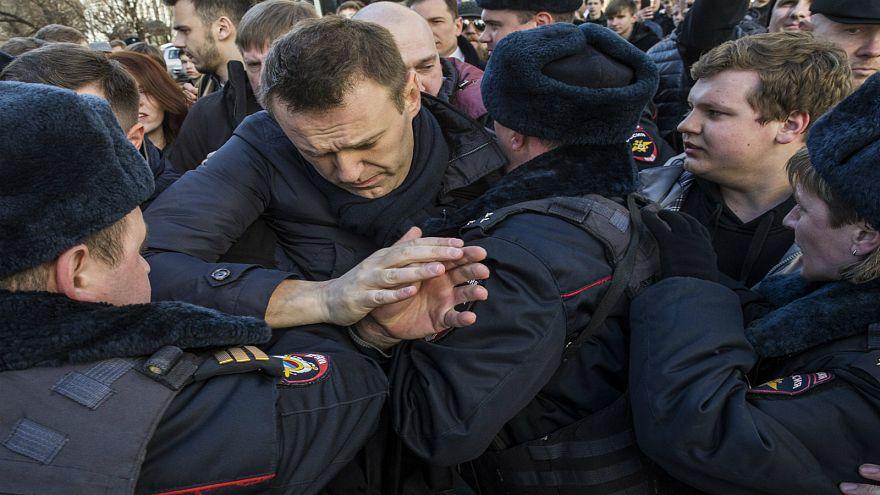 الشرطة تعتقل المعارض الروسي أليكسي نافالني في موسكو