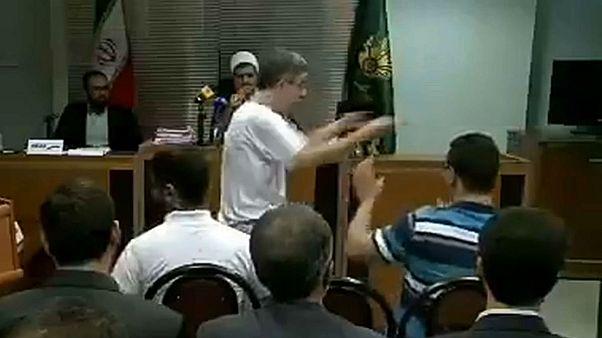 تصویری از فیلم منتشر شده توسط خبرگزاری صدا و سیمای ایران