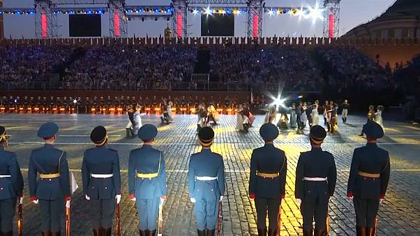 Music and dance light up Moscow's Red Square