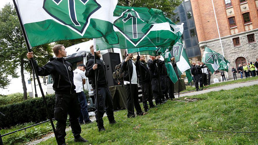 Érdektelenségbe fulladt a svéd neonáci-tüntetés
