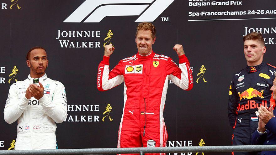 F1 : Vettel plus fort que le roi en Belgique
