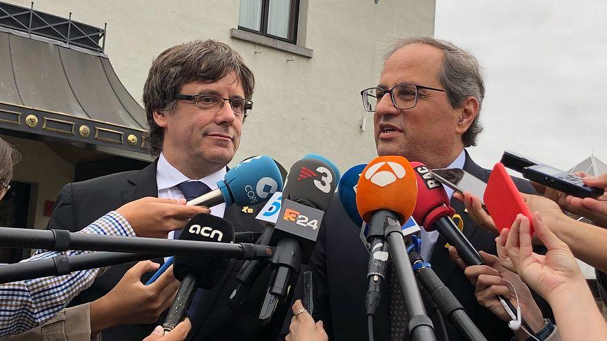 Torra exige a Sánchez la 'máxima inteligencia política' para Cataluña