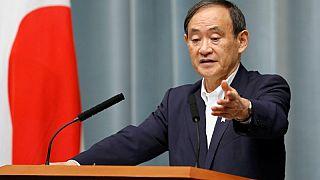 يوشيهيدي سوجا كبير أمناء مجلس الوزراء الياباني في طوكيو