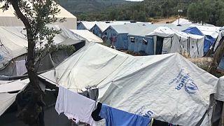 Los campamentos de refugiados griegos siguen desbordados