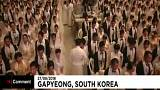 Thousands tie the knot at mass wedding in South Korea