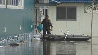Hochwasser im Osten Russlands