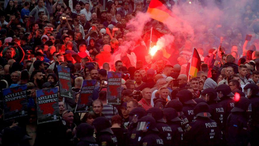 Extrema-direita volta a protestar contra os migrantes em Chemnitz