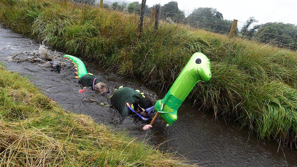 Watch: Battling the bogs at World Bog Snorkeling Championships
