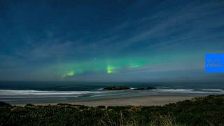 Watch: Aurora lights up skies above New Zealand