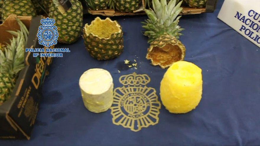 67 kilos de cocaína dentro de unas piñas