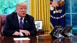 Donald Trump en conversation téléphonique avec Enrique Pena Nieto. 27/08/18