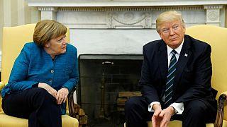 Merkel ve Trump silahların hedefindeki İdlib'i görüştü