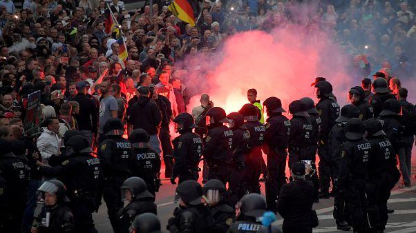 Manifestation de l'extrême-droite allemande contre les migrants à Chemnitz