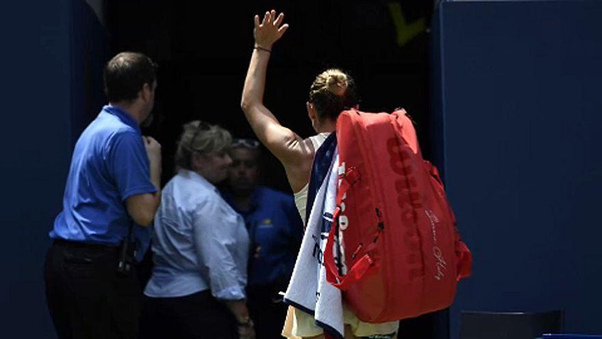 US Open: Aus für Halep, Wawrinka weiter