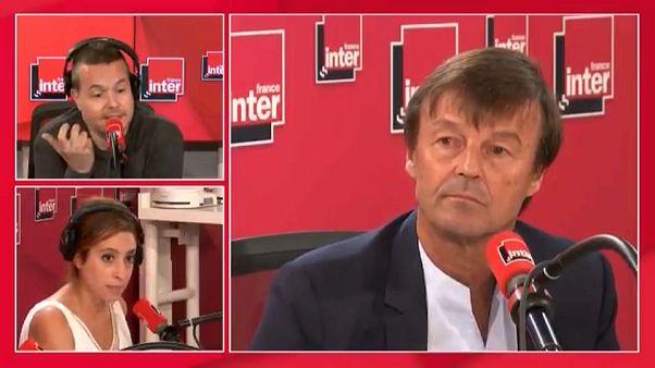 Fransız Çevre Bakanı Nicolas Hulot canlı yayında istifa etti