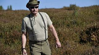 Watch: Russia's Putin enjoys the great outdoors as he hikes in Siberia with top officials