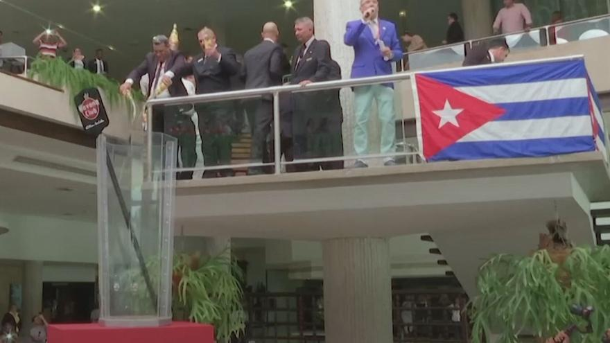 Watch: Cubans break national record for largest Cuba Libre cocktail