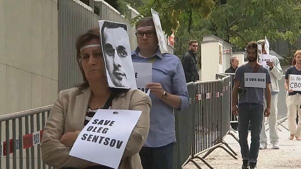 Proteste in Prag gegen Oleg Senzows Haft