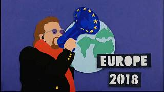 Le groupe U2 prend les couleurs de l'Europe