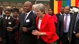Watch: Theresa May's unique dancing is caught on film during Africa visit