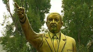 Wiesbaden: Erdogan-Statue steht nicht mehr