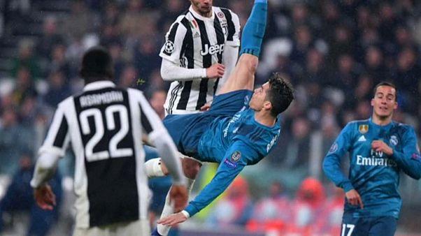 """UEFA: la rovesciata di Ronaldo alla Juve eletta """"gol dell'anno"""""""