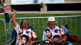 Des fans d'Aretha Franklin venues lui rendre un dernier hommage