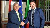 دیدار نخست وزیر مجارستان با وزیر کشور ایتالیا