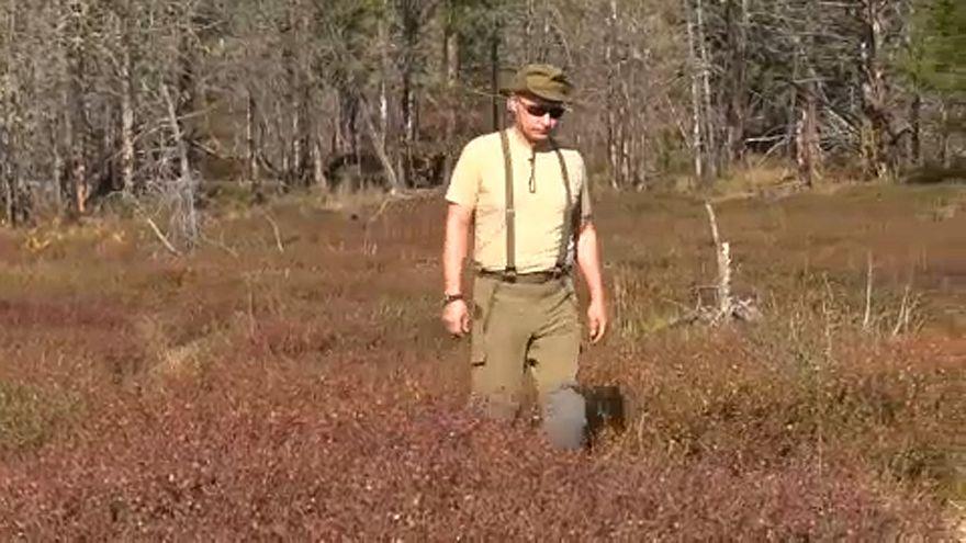 Szibériában túrázott Putyin