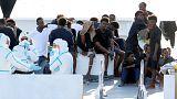 مهاجران غیرقانونی در سواحل ایتالیا