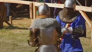 Watch: Sword fighting, jousting and archery at medieval festival