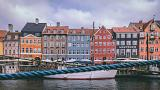Copenhagen's famous Nyhavn district with colourful houses