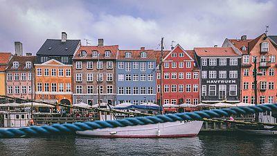 Copenhagen's famous Nyhavn district with colourful houses