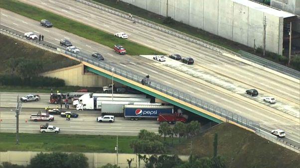 Lifesaving lorries: truckers park beneath bridge in bid to stop suicide
